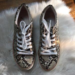 Zara Snakeskin Sneakers